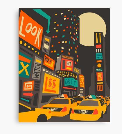 Time Square Canvas Print