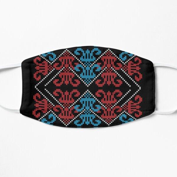 Palestinian Traditional Realistic Tatreez Embroidery Art Design #3 - lght Flat Mask