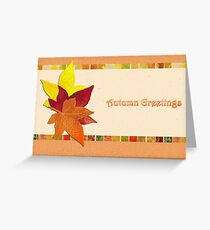Autumn Leaves - Greeeting Greeting Card