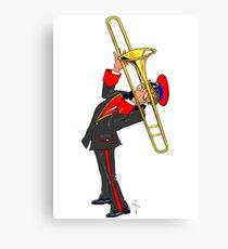 Brass Band - The Trombone Player Canvas Print