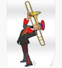 Brass Band - The Trombone Player Poster