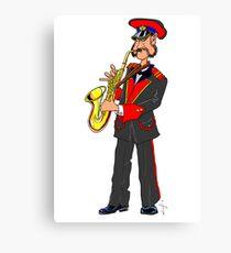 Brass Band - Saxophone Player Canvas Print