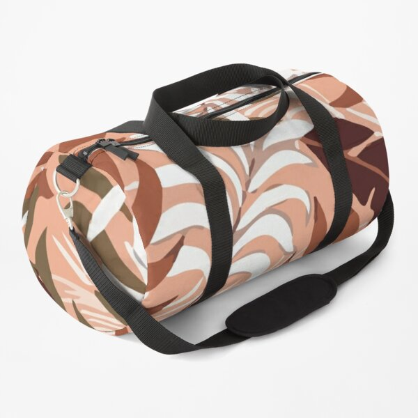 Original Tropical Pattern With Bright Plants Duffle Bag