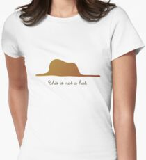 This is not a Hat Womens Fitted T-Shirt