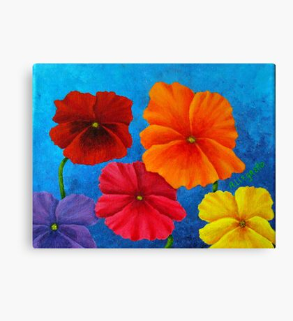 Pansies For Rosalina Canvas Print