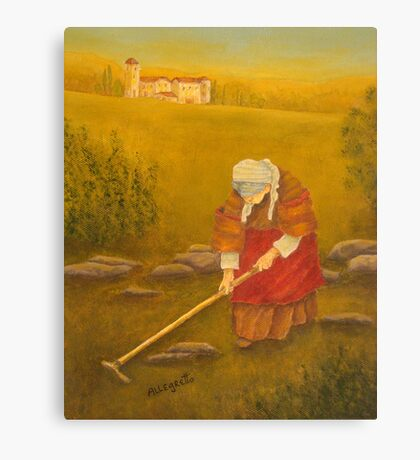 Tuscan Farm At Sunset Canvas Print