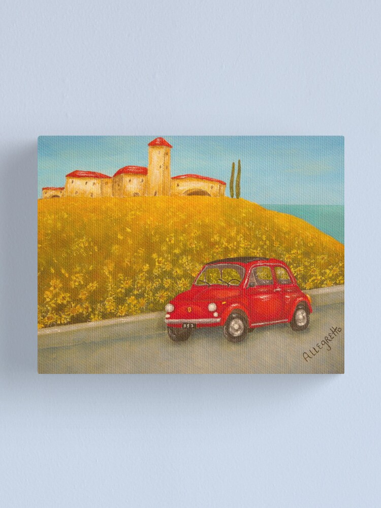 Alternate view of Vintage Red Fiat 500  Canvas Print