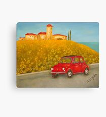 Vintage Red Fiat 500  Canvas Print