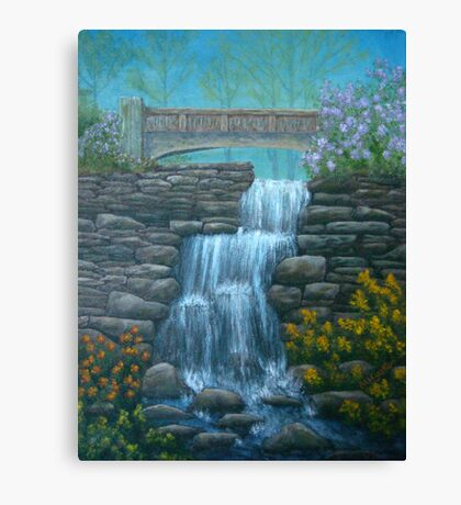New England Waterfall in Summer Canvas Print