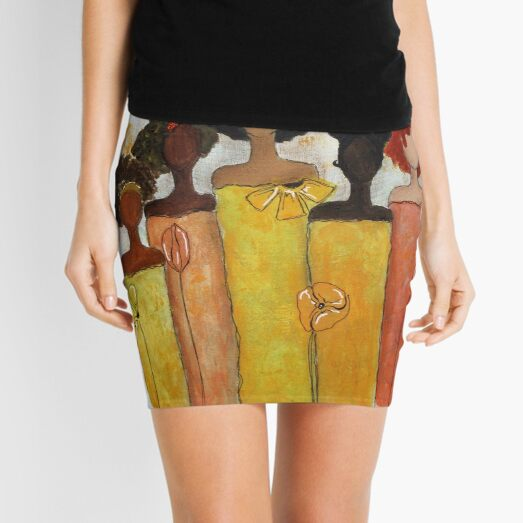 Sistahs Stand Golden/Stand Together Mini Skirt