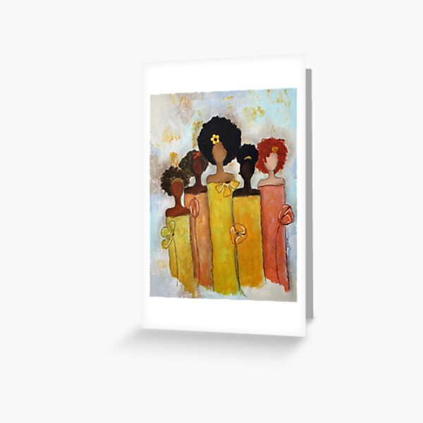 Sistahs Stand Golden Greeting Card