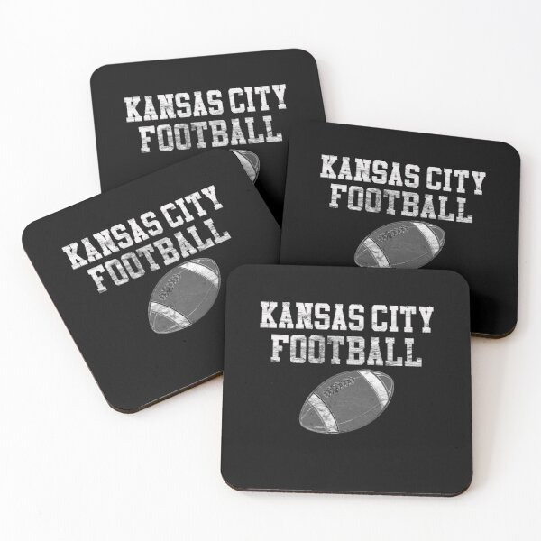 Vintage Kansas City Football Coasters (Set of 4)