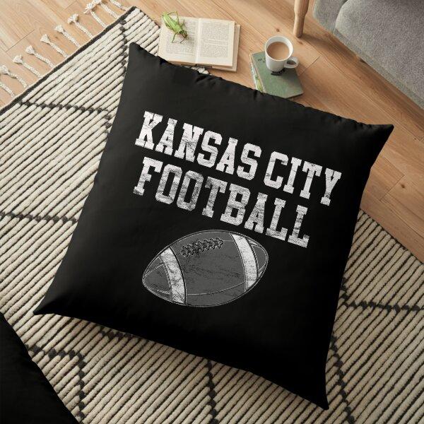 Vintage Kansas City Football Floor Pillow