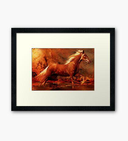 Rustic Fire Framed Print