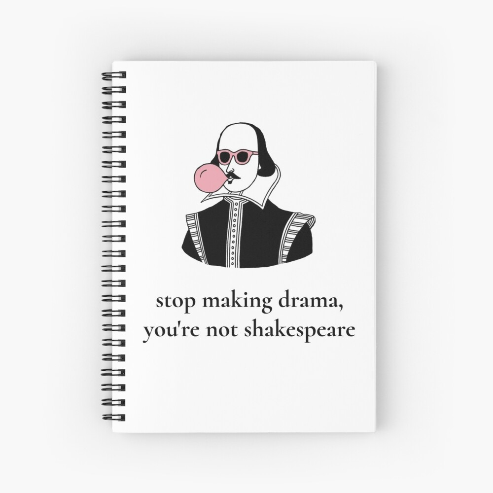 Dramatic Shakespeare Spiral Notebook