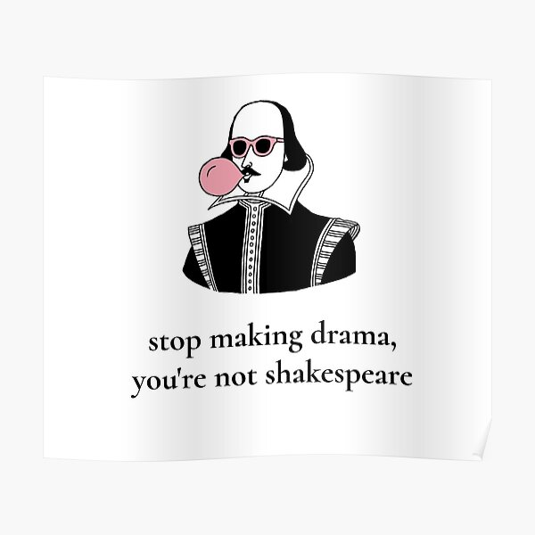 Dramatic Shakespeare Poster