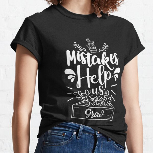 Growth Mindset and Gratitude for Teachers and Emotional Wellness Fans Classic T-Shirt