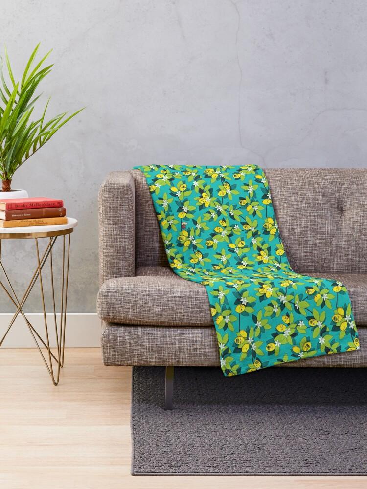 Alternate view of Lemongrab Tree Pattern Throw Blanket