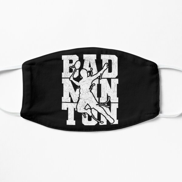 Badminton With Badminton Player Silhouette Mask