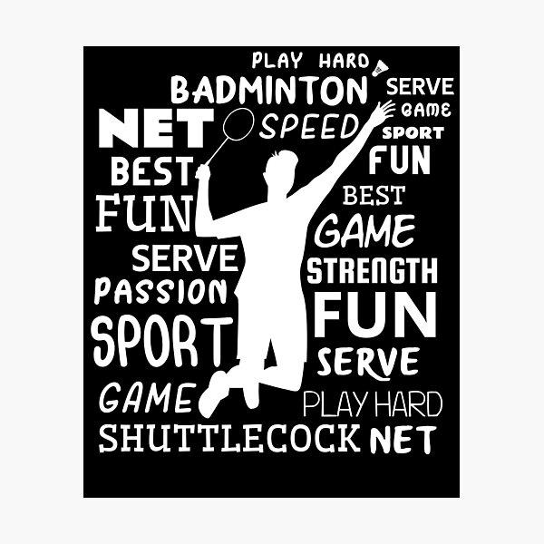 Badminton Player Photographic Print