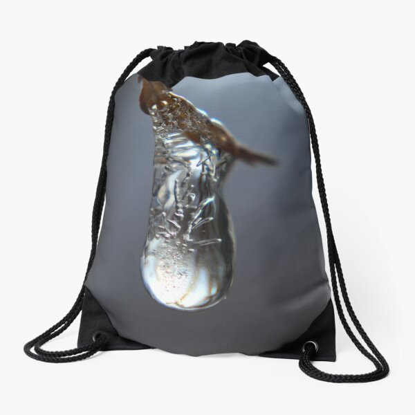 Tiny Bubbles in Drip of Ice Drawstring Bag