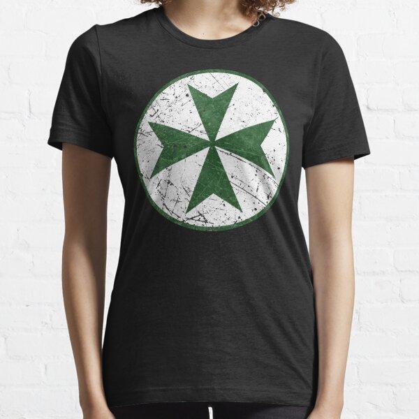 Order of Saint Lazarus Green Cross Essential T-Shirt