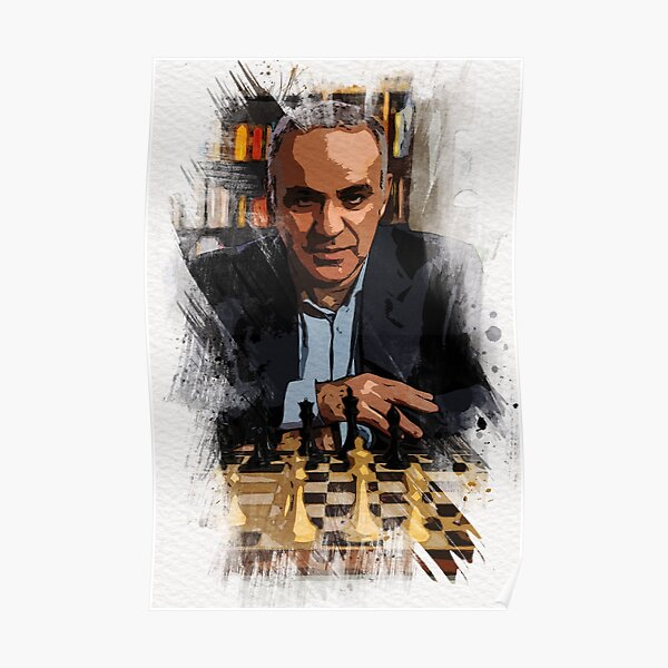 Garry Kasparov ✪ The Legend ✪  Abstract Watercolor Portrait of a chess master Poster