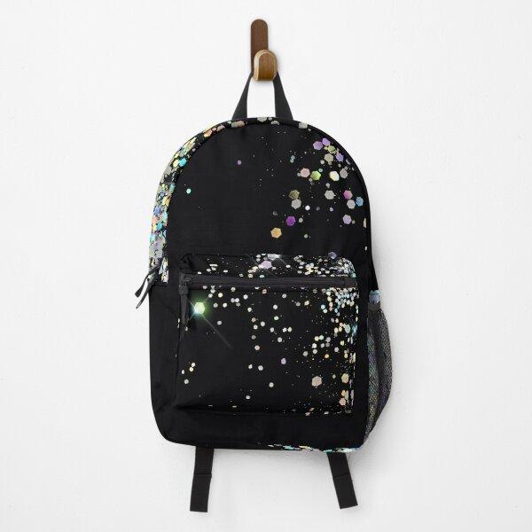 Black & Holographic Sparkle Backpack