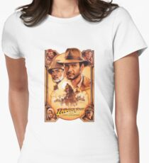 Indiana Jones and The Last Crusade Movie Poster Women's Fitted T-Shirt