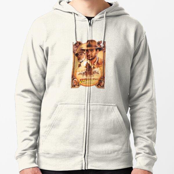 Cartel de la película Indiana Jones y The Last Crusade Sudadera con capucha y cremallera