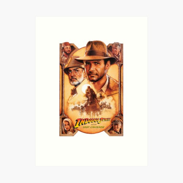 Indiana Jones and The Last Crusade Movie Poster Art Print