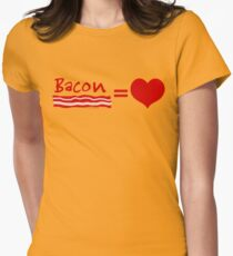 Bacon Equals Love Womens Fitted T-Shirt