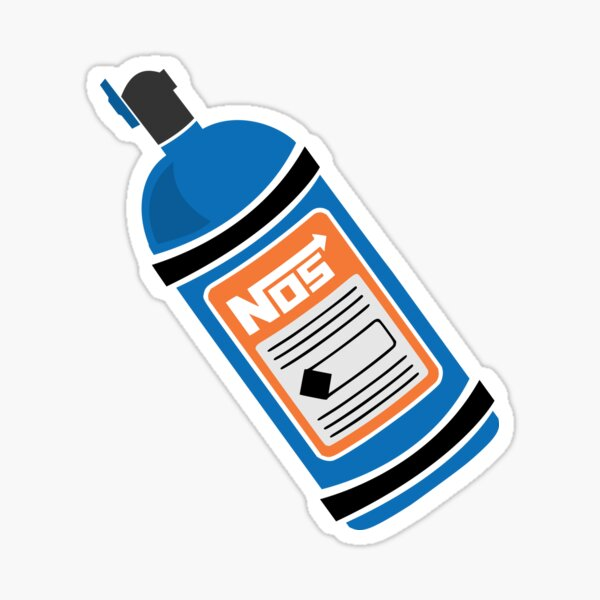 NOS Nitrous Oxide Canister Sticker