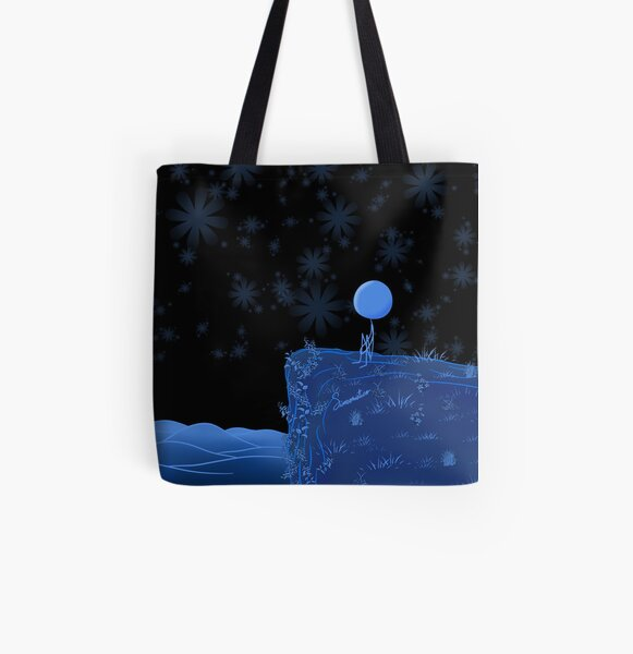 Where would I run to? Where would I hide? Bolsa estampada de tela