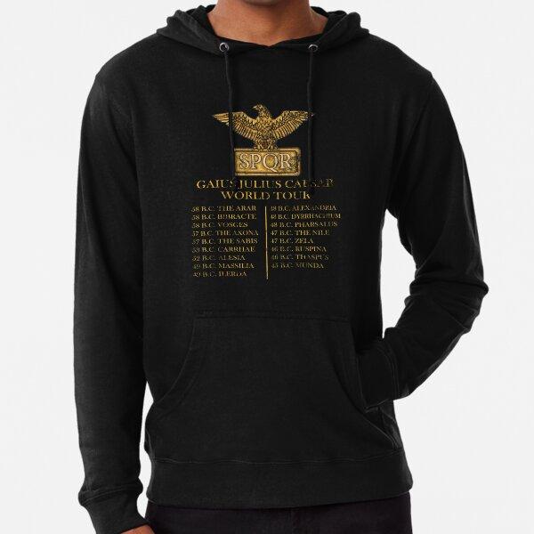 Gaius Julius Caesar World Tour T-shirt SPQR Funny Lightweight Hoodie