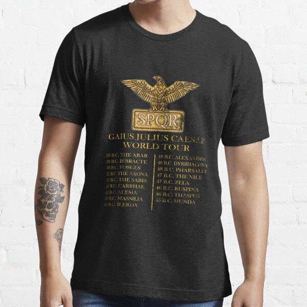 Gaius Julius Caesar World Tour T-shirt SPQR Funny Essential T-Shirt