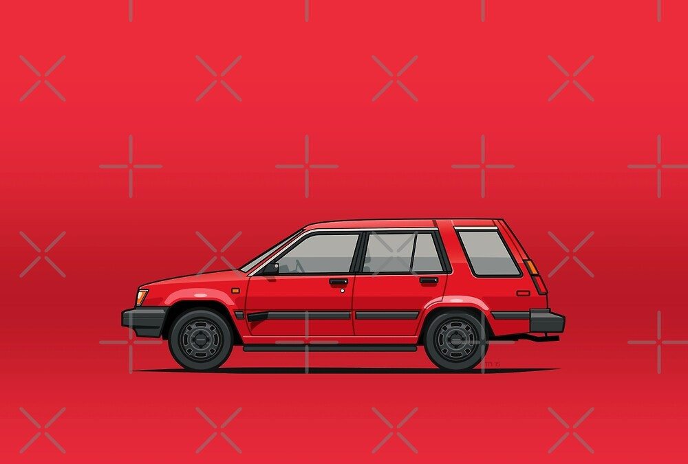Jesse Pinkman's Crappy Red Toyota Tercel SR5 4WD Wagon AL25 by Tom Mayer