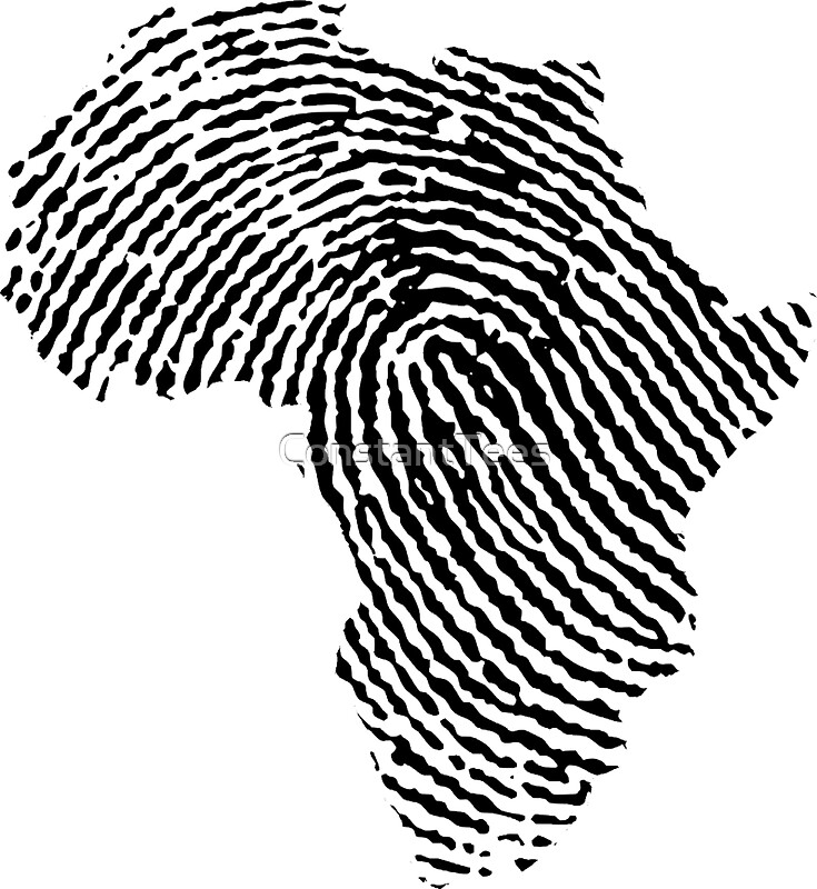 Quot Africa Fingerprint Quot Stickers By Constanttees Redbubble
