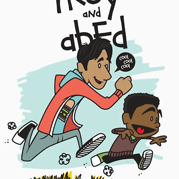 Troy + Abed by LL3Dsn