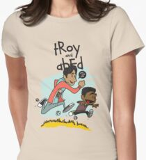 Troy + Abed Women's Fitted T-Shirt