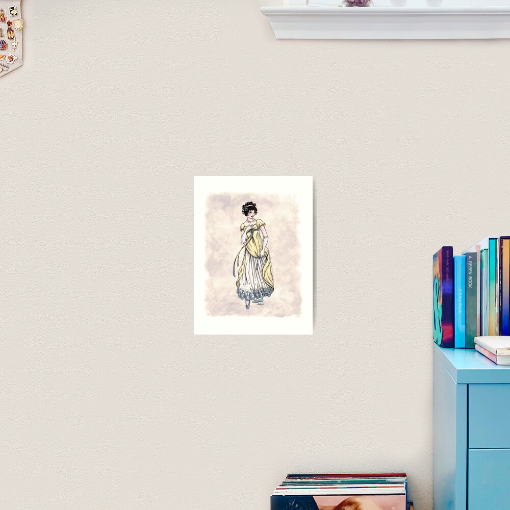 Lady Cecilia Fifield - Regency Fashion Illustration Art Print