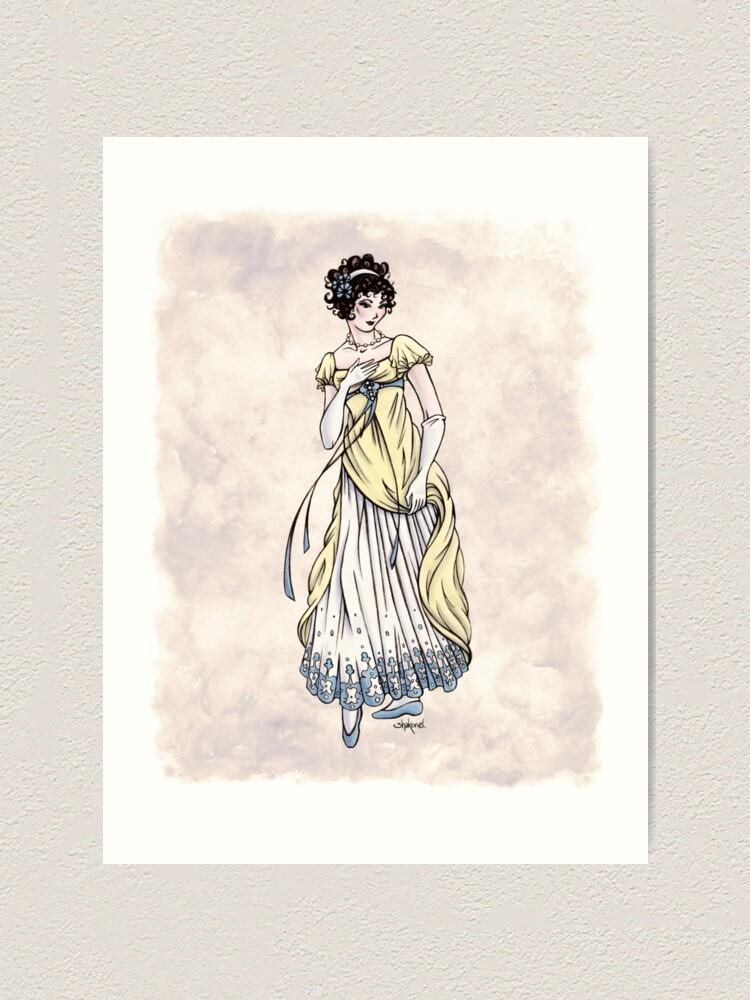 Alternate view of Lady Cecilia Fifield - Regency Fashion Illustration Art Print