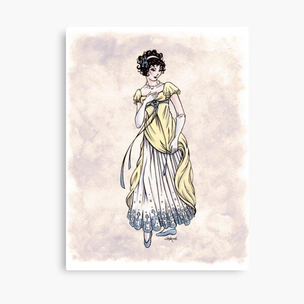 Lady Cecilia Fifield - Regency Fashion Illustration Canvas Print