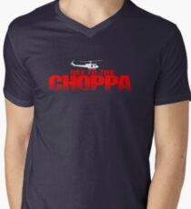GET TO THE CHOPPA - Predator Parody  Men's V-Neck T-Shirt