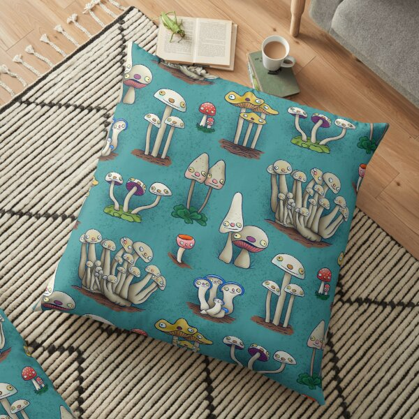 Mushies in Mushville Floor Pillow