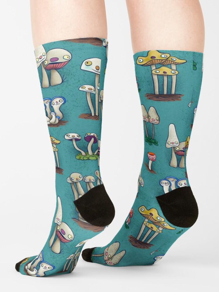 Alternate view of Mushies in Mushville Socks