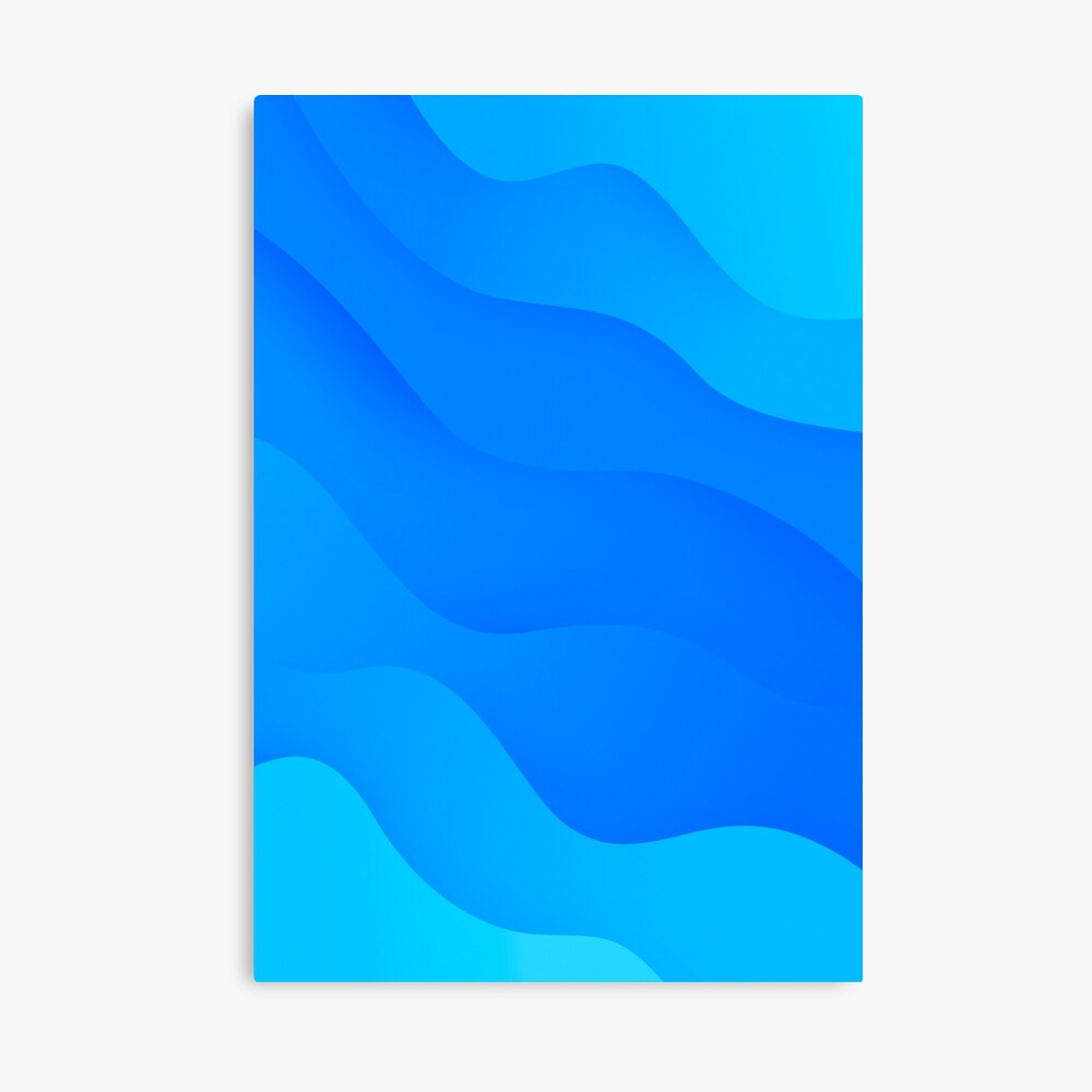 Blue Waves Ocean Pattern Apple Mac Big Sur Wallpaper Style Poster By Fontart Redbubble