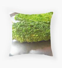 Bitter Melon Throw Pillow