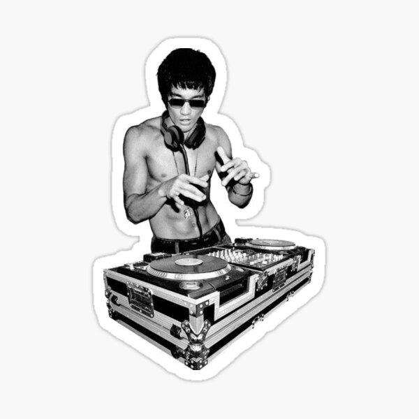Bruce Lee DJ Sticker