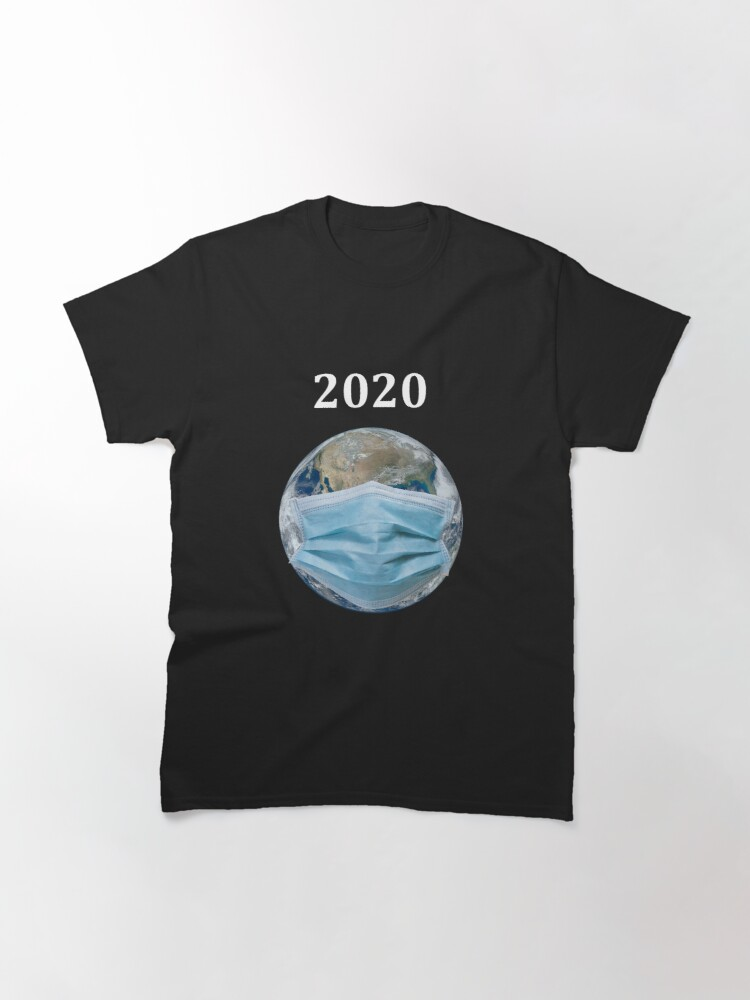 Alternate view of Year 2020 Pandemic World Mask Classic T-Shirt